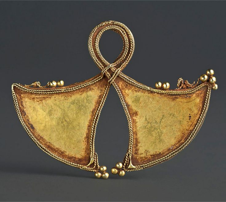 Indonesia ~ Flores, Ngada | Chest ornament (Taka); hammered gold | ca. 19th century