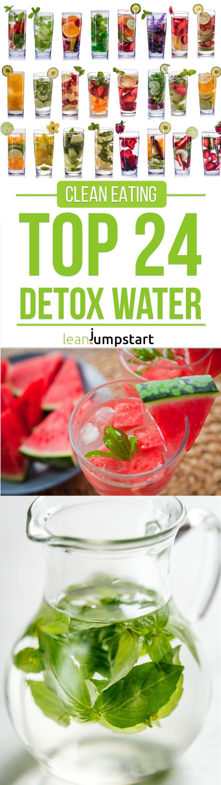 detox water top 24 clean recipes to boost your metabolism detoxwater eatclean leanjumpstart. Black Bedroom Furniture Sets. Home Design Ideas