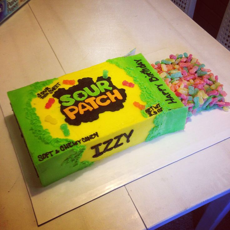 Sour Patch Kids Cake By Tbsp Cakes Caked Pinterest