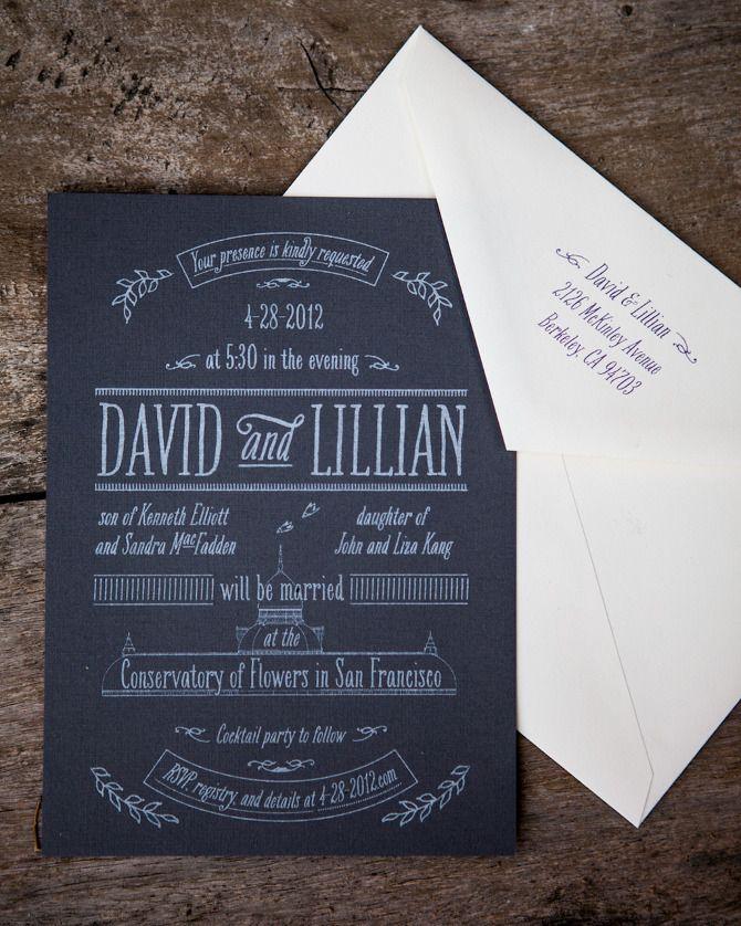 nice wedding invitation font%0A A Very Edward Gorey Wedding  Charmagne Kringstein