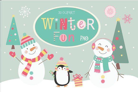 Winter fun by Poppymoondesign on @creativemarket