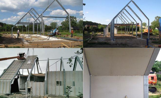 Beton massiefdak gegalvaniseerde stalen constructie huis pinterest - Huis roestvrij staal ...