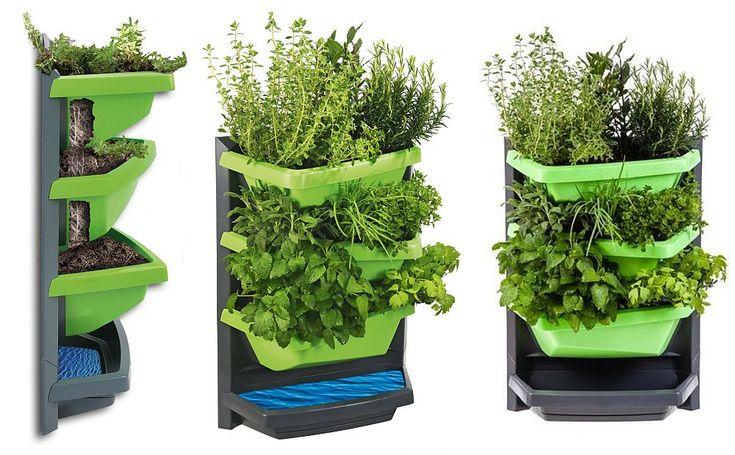 Jardinieră verticală ingenioasă, ideală pentru balcoane și spații mici