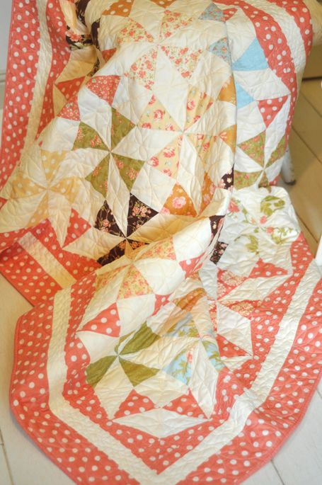 Saltwater Taffy Quilt by Fig Tree Quilts - love pinwheels