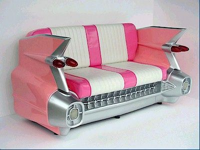 Pink Cadillac Sofa ...how much? Way too much, don't even ask. two grand plus