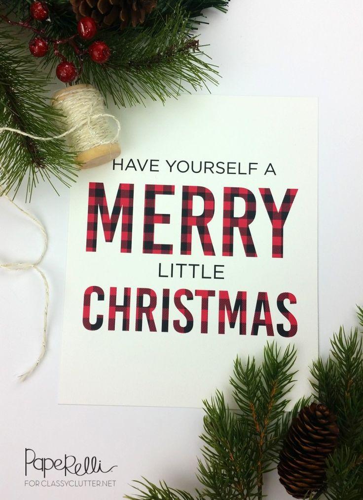 Free : Buffalo Check Plaid Christmas Printables