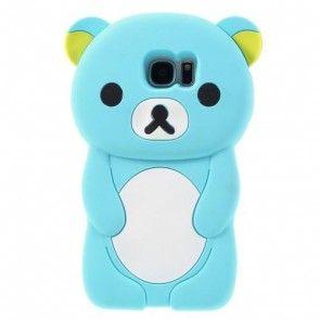 Carcasa Samsung Galaxy S7 Edge G935, Blue, TPU, 3D Rilakkuma