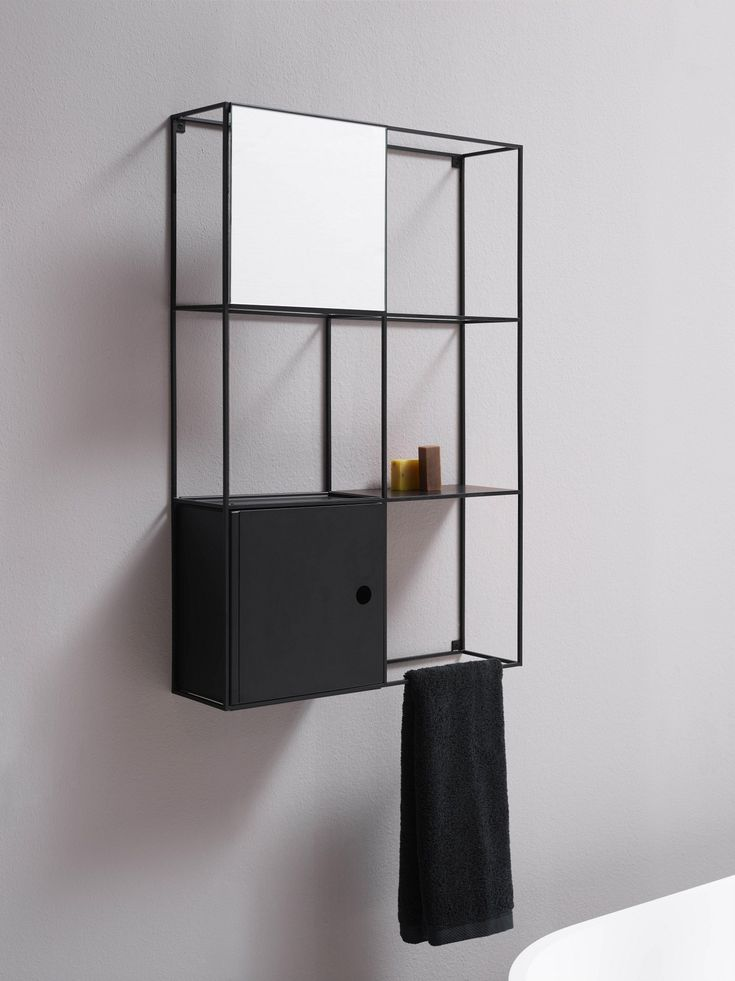 Suspended metal wall cabinet with mirror FELT by Ex.t | design NORM ARCHITECTS