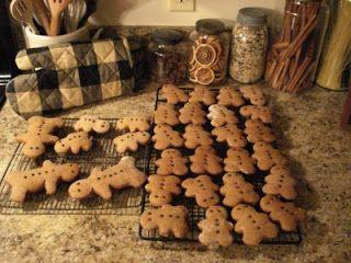 Ornamental Gingerbread Dough 3 T shortening,1/2 cup sugar, 1/2 cup molasses,1 tsp. baking soda, 3/4 cup water 3 1/2 cups flour, 1 tsp. each: ground cloves, cinnamon, and nutmeg.