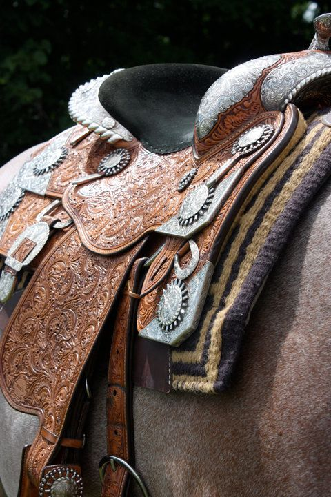 I don't know whether to pin this saddle on to a horse board or onto amazing things- how pretty