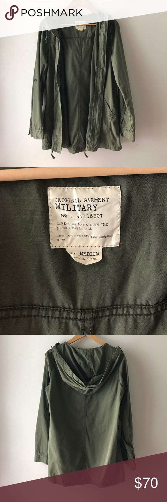 Military jacket Perfect army green jacket Uniqlo Jackets & Coats