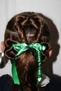St. Patrick's Day hairHair Ideas, Three Leaf Clovers, Little Girls Hair, Threeleaf Clovers, Cute Girls Hairstyles, St Patricks Day, Hair Style, Leaves, Clovers Hair