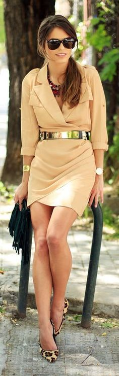 Çıplak Blazer Elbise Klasik Sokak Kıyafetleri
