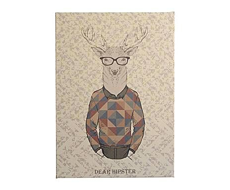 PICK YOUR STYLE - ILLUSTRATIONS TOILE TENDUE SUR CHÂSSIS DEAR HIPSTER - 50*70 42 €