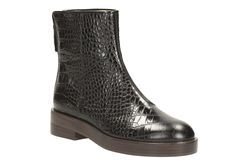 Orla Andie, Black Croc, Womens Casual Boots