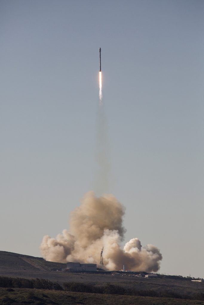 SpaceX returned its Falcon 9 rocket to flight Saturday with a mission that delivered ten Iridium NEXT communications satellites into low Earth orbit. Liftoff was on time at 09:54 local time (17:54 UTC) from Vandenberg Air Force Base, California. SpaceX also successfully landed the first stage booster on a drone ship in the Pacific Ocean.