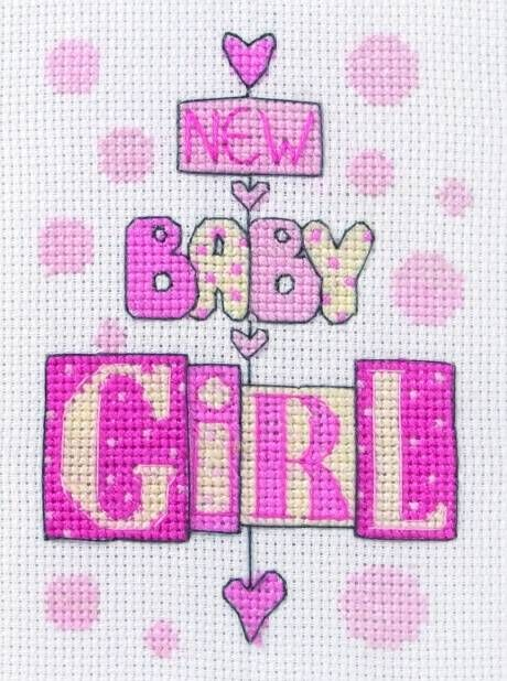 image of New Baby Girl Cross Stitch Kit