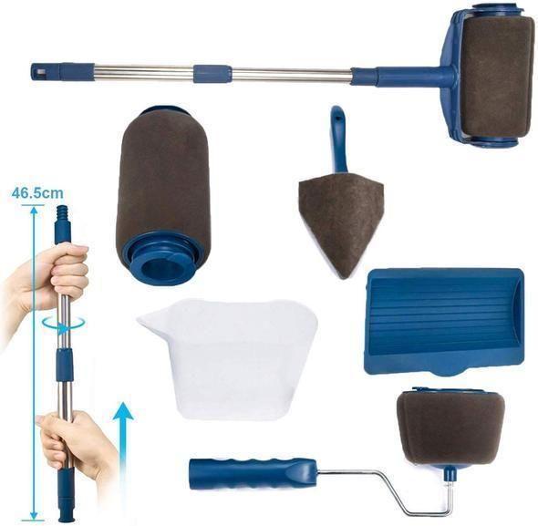 Multifunctional Paint Roller Brush Tools Set 8 Pcs In 2020 With Images Paint Roller Roller Brush Roller