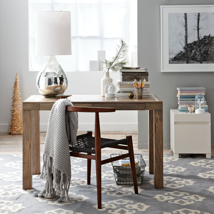 Best 25 Parsons Desk Ideas On Pinterest White Eclectic Lamps And E