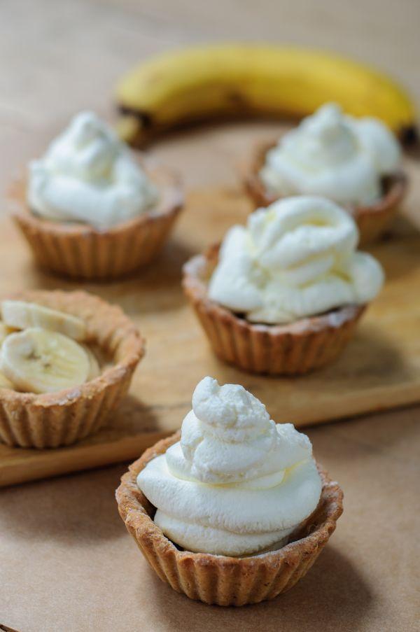 Tartaletky s banánom a tvarohovým krémom - Recept pre každého kuchára, množstvo receptov pre pečenie a varenie. Recepty pre chutný život. Slovenské jedlá a medzinárodná kuchyňa