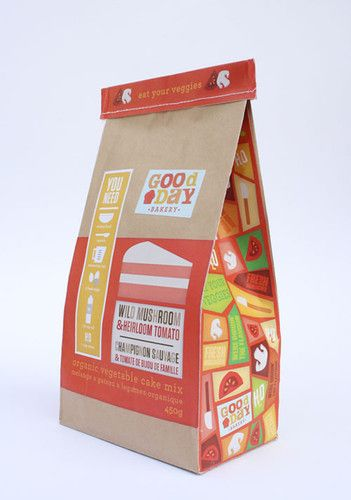 Good Day Bakery |bright colors used on bakery packaging