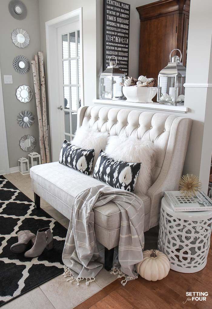 Elegant fall entryway decor ideas for Furnishing ideas