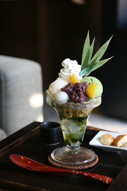 Japanese style ice cream sundae (Kyoto, Japan)