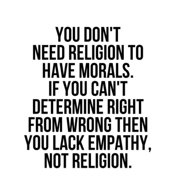 religion is not the foundation of morality Religion as a foundation of morality morality and religion the problem: - not all religious people act morally – religion not sufficient for moral behavior.