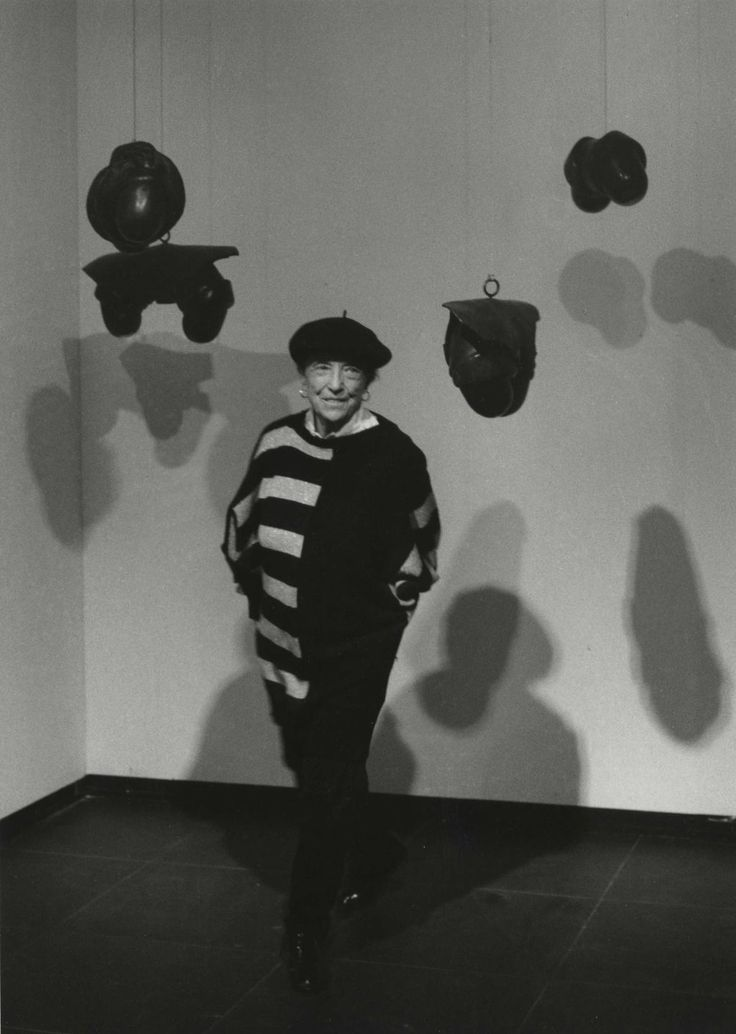 Louise Bourgeois by Barbara Klemm, 1989