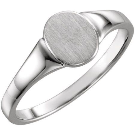 Custom Engraved Sterling Silver Signet Ring  - click/tap to personalize and buy