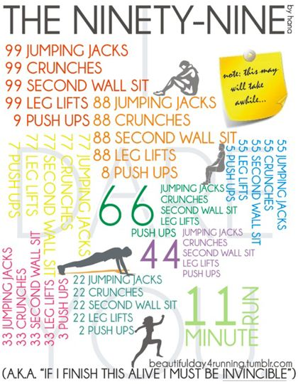 Goal: actually do this all the way through. The Ninety-Nine by hana , 4 Pinterest Workouts That Kicked My Lazy Butt
