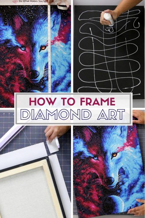 How To Frame Diamond Painting On Canvas : frame, diamond, painting, canvas, Frame, Diamond, Pictures, Crafty, Stalker, Framed, Painting