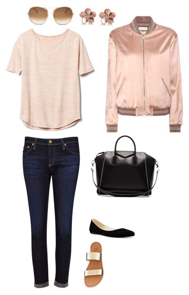 """My look"" by sati-o on Polyvore featuring мода, AG Adriano Goldschmied, Gap, Nine West, Yves Saint Laurent, Givenchy, Chloé и Allurez"