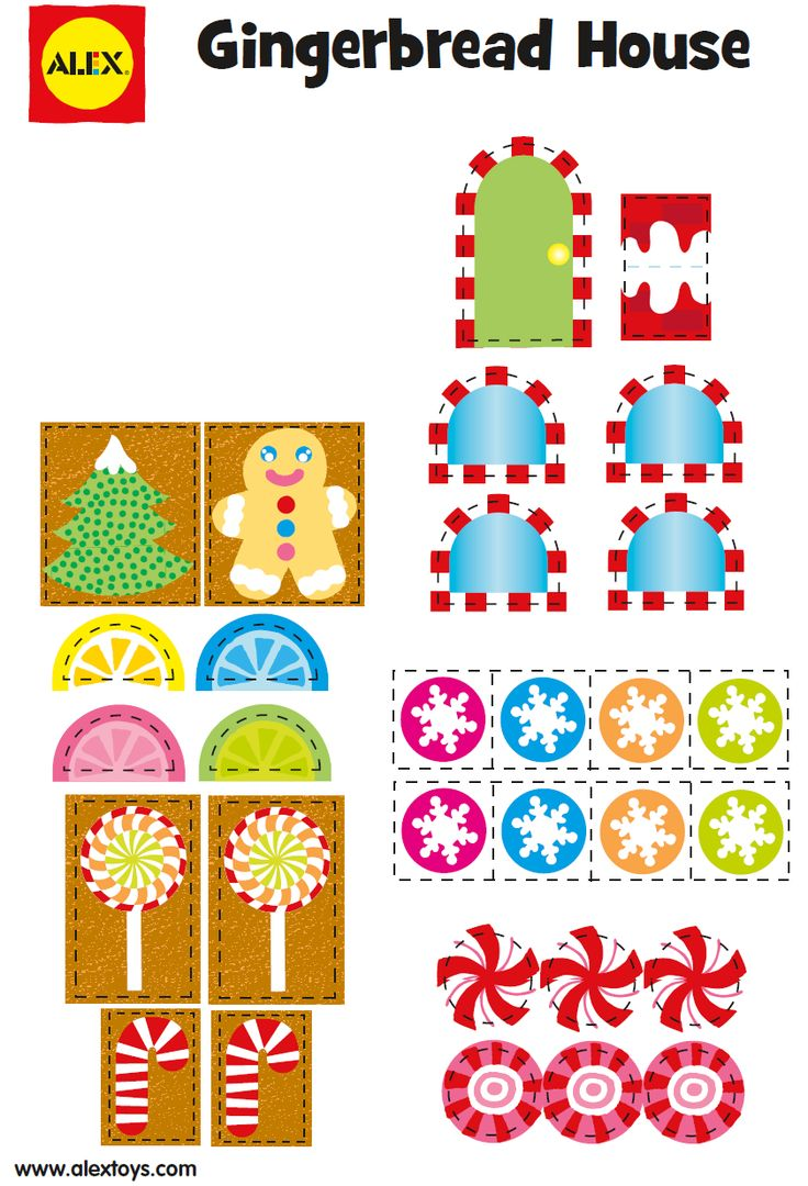Gingerbread house free printables - 2 Of 3 Http Www Alexbrands Com Project Freegingerbread Manfree Printabledecoupage