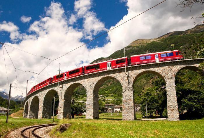 Bernina Express scenic train ride  from Tirano, Italy to St Moritz or Chur, Switzerland