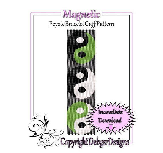 Bead Pattern Peyote(Bracelet Cuff)-Magnetic