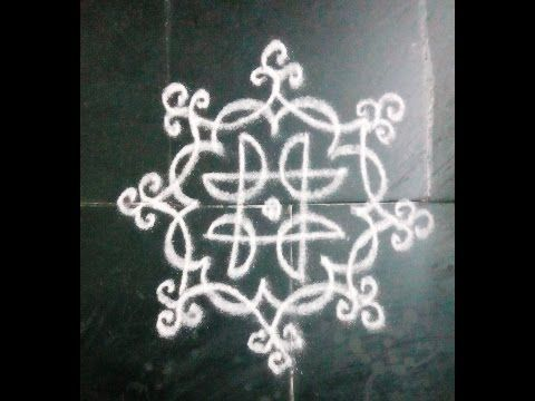 SIMPLE & EASY FREEHAND KOLAM - YouTube
