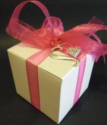 White Favour Box or Cup Cake Box (3 x 3)