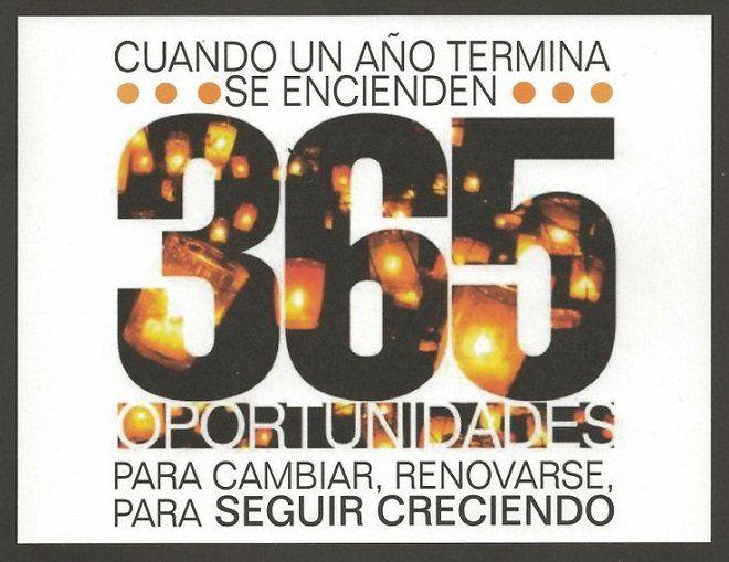 365 días para empezar de nuevo - http://goo.gl/1tDHpt