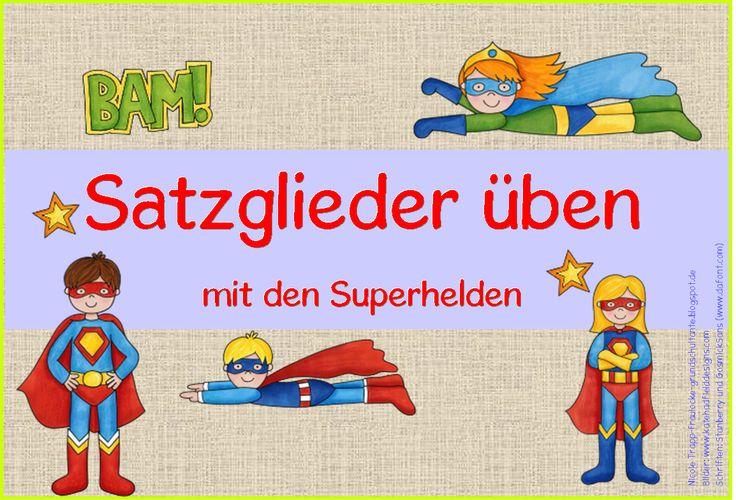 Frau Locke: Satzglieder üben mit den Superhelden