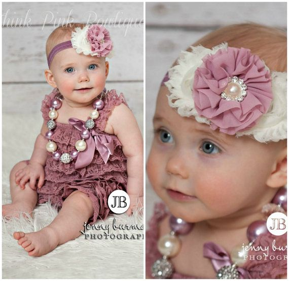 Petti lace romper and headband SET, petti romper,baby headband, romper, baby headbands,lace petti romper, smash cake set, baby headbands.