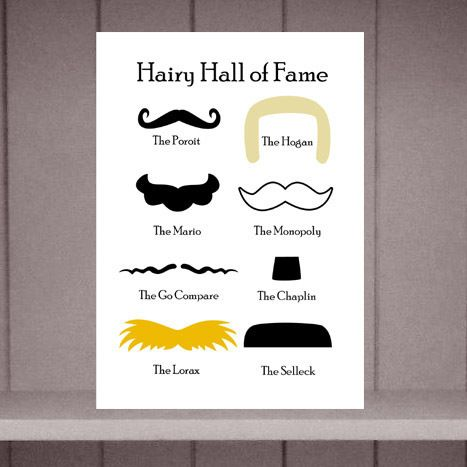 Moustache Greeting Card £2.20