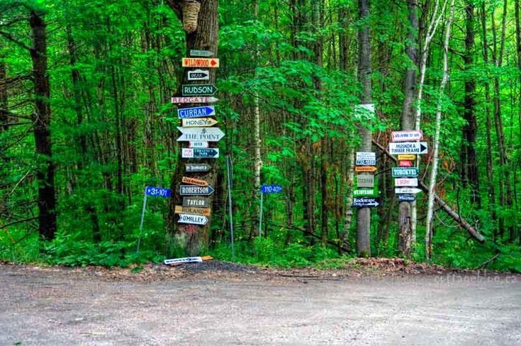 muskoka road signs