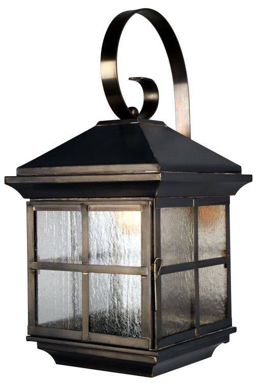 outdoor wall lights with bracket and scroll copper and brass lighting