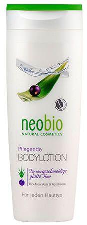 NEOBIO TESTÁPOLÓ ALOE VERA+ACAI BOGYÓVAL 250 ML - Kényeztető testápoló BIO sheavajjal és BIO szójaolajjal, mely érezhetően üdévé, selymessé és ápolttá teszi a bőrt. A BIO Aloe vera és a BIO açai bogyó kivonata intenzív nedvességet biztosítanak, harmonizálják és rugalmassá teszik a bőrt.   Természetes ápolás és kényeztetés a bőrnek. Natrue minősítéssel.