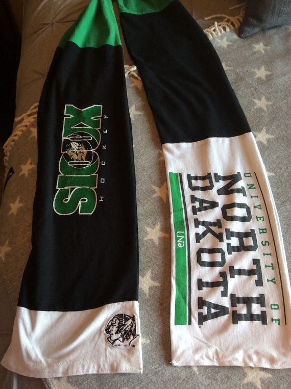 UND Fighting Sioux T-Shirt Scarf by TheBeachOn32nd on Etsy