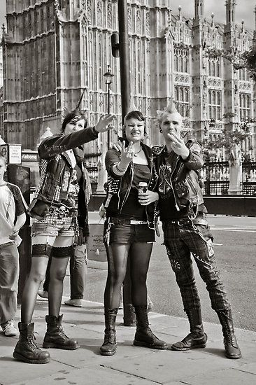 Punk rockers, London