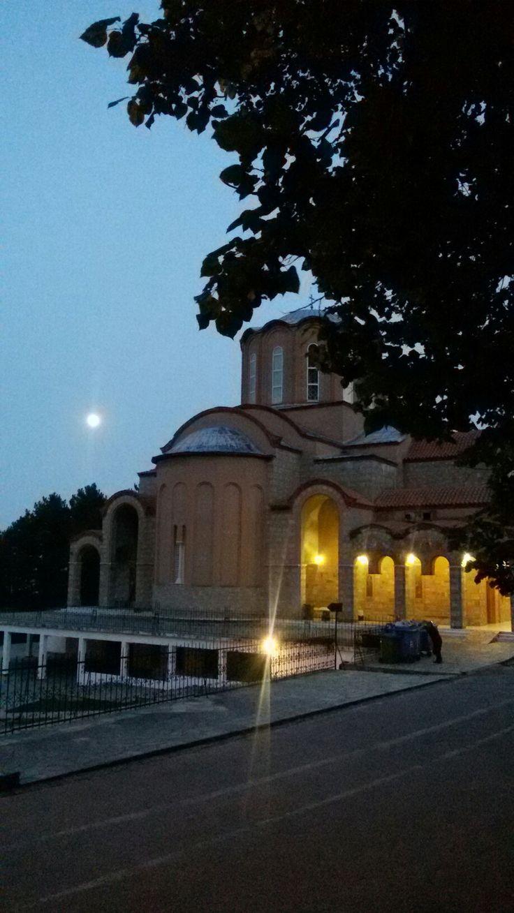 Παναγία Σουμελά, Καστανιά Ημαθίας μετά την Παράκληση.
