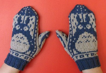 Totoro Mitten Gloves Knit Pattern Photos