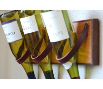 Cedar U0026 Leather Wine Rack   Good Gift